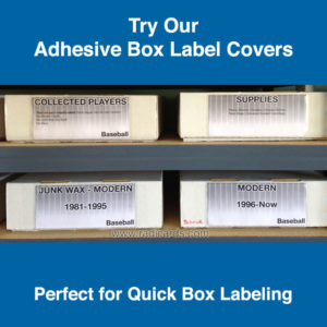 Adhesive Box Label Covers