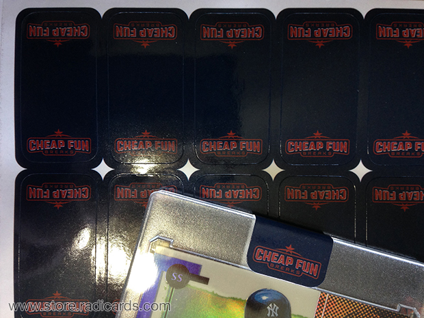 Branded Stickers for Trading Card Cases