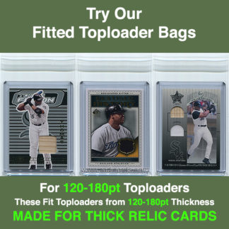 Fitted 120-180pt Toploader Bags