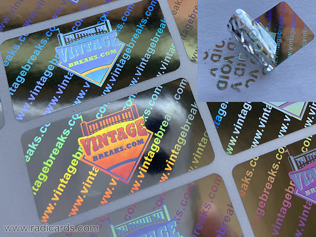 Branded Tamper Proof Stickers | Silver Hologram with VOID Peel-Off